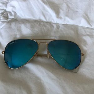 Polarized blue lense Ray Ban aviators